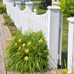 White curved Picket fence